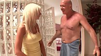 Kaylee gives her father a blowjob with the device and pricks up his cock's Thumb