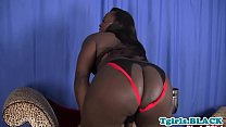 Curvy bigbooty black trans solo session