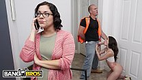 BANGBROS - Teen Gia Paige Gets Hammered By The Roofer Behind Mom's Back! thumbnail
