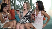 Three MILFs Sharing A Fat Cock thumbnail
