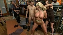 Busty blonde slave anal public fucked
