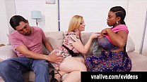 VNALive.com - Sara Jay Has 3Some With Ebony BBW Maserati! thumbnail