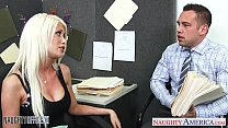 Busty blonde Riley Jenner fucking in the office video