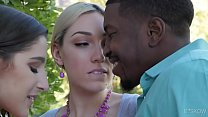 Interracial threesome with Lily LaBeau and Abella Danger video