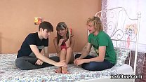 Bf assists with hymen physical and screwing of virgin cutie