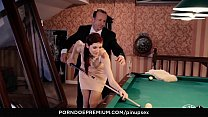 PINUP SEX - Pool table fantasy fuck with stunni...