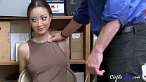 Scarlett bloom LOSES HER VIRGINITY to JAILER's Thumb