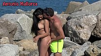 OMG she sucks my COCK ON THE BEACH (Antonio Mal...