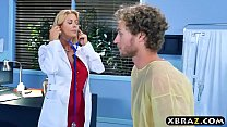 Teen nurse and MILF doctor threesome with male patient thumbnail