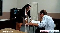 Teacher in glasses Ava Addams gets big tits fucked - XNXX.COM