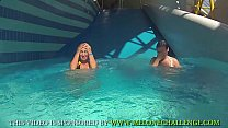 Mea Melone & Wendy Moon having fun in pool