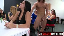 16 Massive  Strippers getting sucked and fucked at CFNM orgy 13 Thumbnail