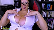 OldNannY Extremely Busty Mature Lulu Showoff pornhub video