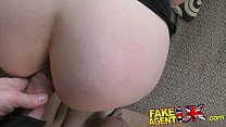 FakeAgentUK Brunette with amazing tits fooled for 2nd casting couch fuck Vorschaubild