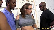 Chanel Preston Gets Fucked By A Crew Of Black Men