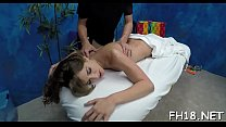 Hot eighteen year old sucks and fucks her massage therapist preview image