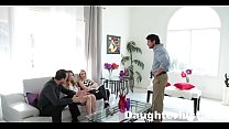 Hot Teens Fuck Dad For Mardis-Gras  |Daughterlust.com