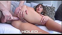 HOLED - Brunette Britney Spears look a like Charlotte Cross anal fucked