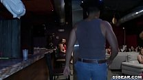 Dancing bear is here and cock hungry girls suck his dick thumbnail