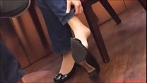Candid Asian Extreme Shoeplay Dangling in Nylons Porn 2a
