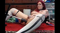 www.boysfood.com: busty redhead cam girl and her sex machine thumbnail