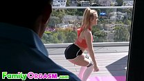 Fitness Teen Banged by Old Dad