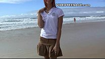 sexy teen at beach thumb
