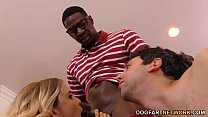 Haley Reed Humiliates Cuckold With Two Black Men image