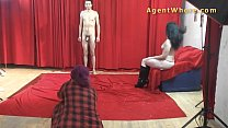 19yo casting boy gets wild striptease from nasty MILF preview image