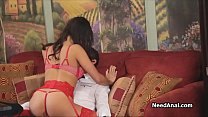 Girlfriend in red lingerie craves for anal thumbnail