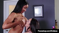 Black Tart Jenna Foxx Learns Lesbian Love By Mi... thumb