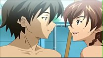 Horny Big Tits Anime Fucked In Pool Shower