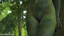 Invisible nakedness in the city. Body Art with public nude by Jeny Smith Thumbnail