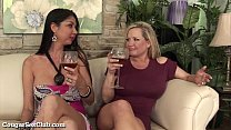 Horny Housewives Gangbang A Random Guy!