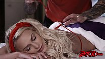 Amazing teen Emma Hix gets full treatment from her masseur