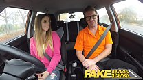 Fake Driving School hot Italian learner with big natural tits fucks for her exam Image