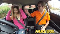 Fake Driving School hot Italian learner with big natural tits fucks for her exam - 9Club.Top