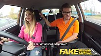 Fake Driving School hot Italian learner with big natural tits fucks for her exam thumbnail