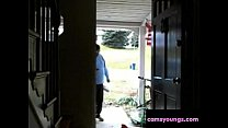 Naked Surprise for Delivery Guy, Mya Lovely thumbnail