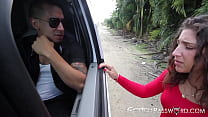 Teenage sub Abella Danger pounded after hitchhiking