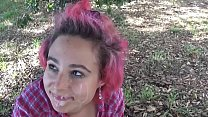 Slutty Teen Banged Outdoor and Facialized