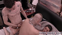 Cum sharing -Group gang fuck with Spunkiest arse hole ever