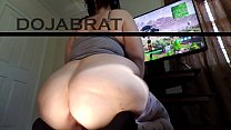 Worship PAWG Gamer's Fat Ass While She Plays Fo...