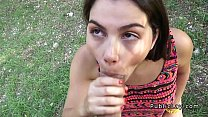 Busty and hairy Italian student fucks in the park pov Preview