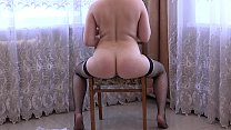 The girl masturbates her ass with a big black dildo., clips4sale kelly hart thumbnail
