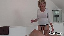 Adulterous british mature lady sonia exposes her huge boobs's Thumb