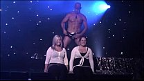 two amateur girls with a stripper
