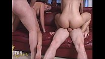 Swinger Amateur Teen Gets Double Penetration and Creampie