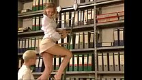Screenshot short dress  girl get fucked in the library xemp...