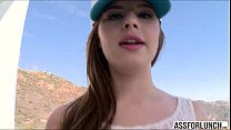 Hot teen brunette Jillian gets pounded by Mike ...